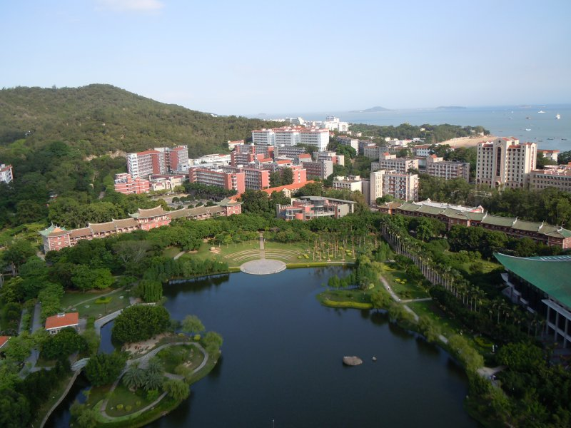 Xiamen university campus from above