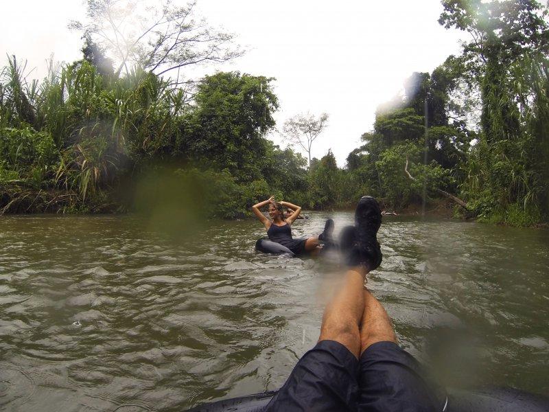 Belize river tubing