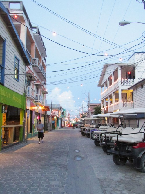 Streets of San Pedro Belize