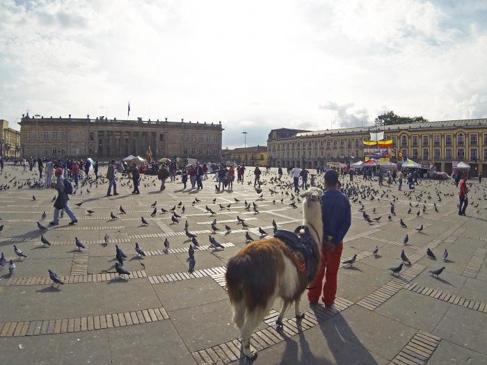 Bogota main square