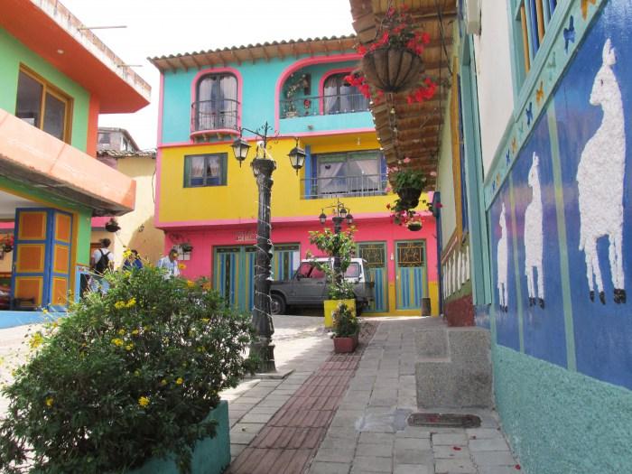 Colombia street Guatape