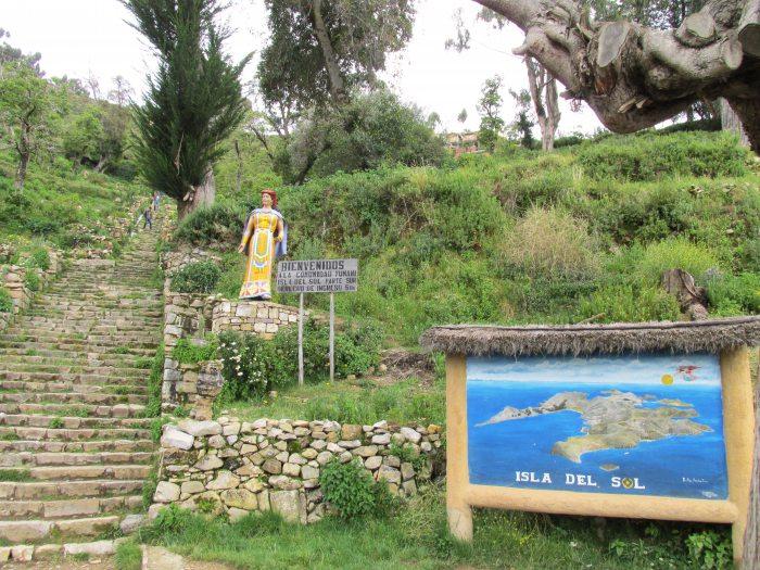 Isla del Sol Bolivia Yumani Inca stairs