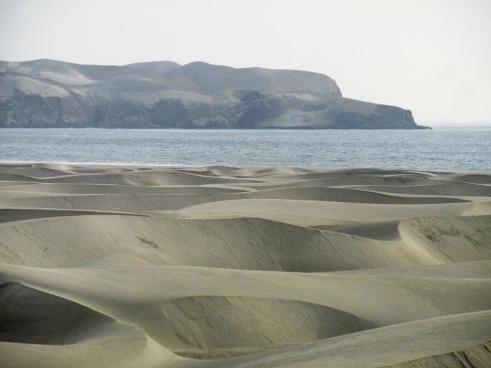 Peru desert coastline