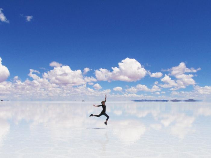 Salar de Uyuni jump