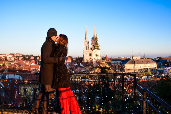 Zagreb advent couple