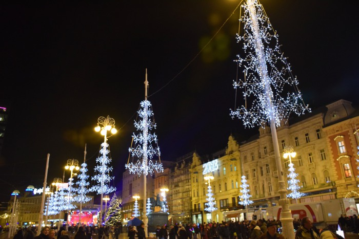 Zagreb main square advent Ban Jelacic