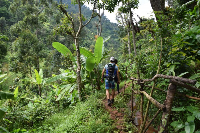 Africa hiking