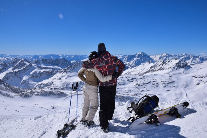 Skiing honeymoon