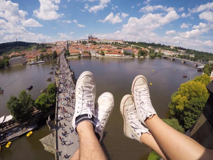 Charles Bridge scenic view Prague