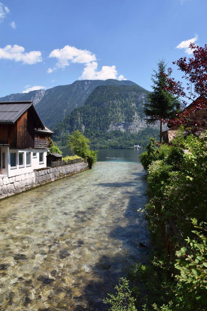 Hallstatt Austria river stream