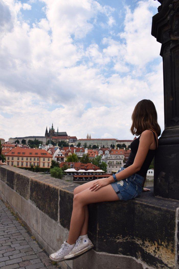 Prague Charles Bridge view