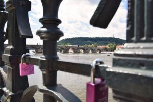 Prague love bridge