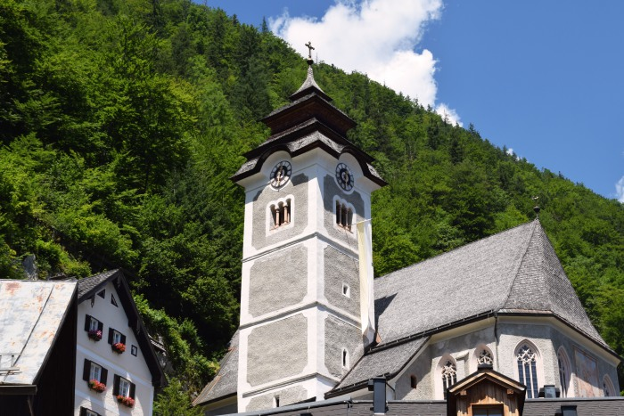 The Catholic parish church of Hallstatt