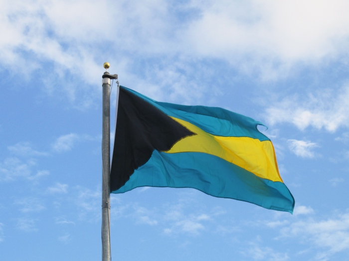 Bahamas flag in Nassau