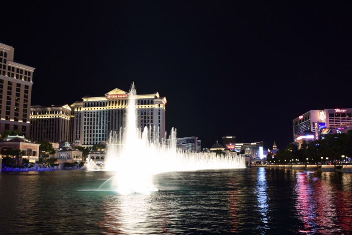 Bellagio fountains romantic Las Vegas