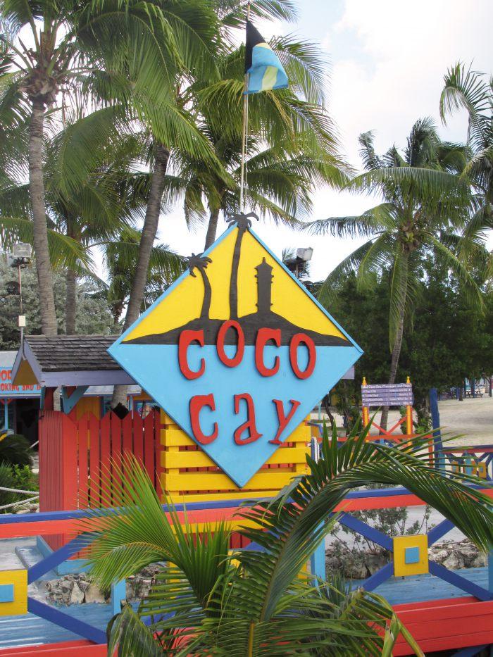 Coco Cay Bahamas sign