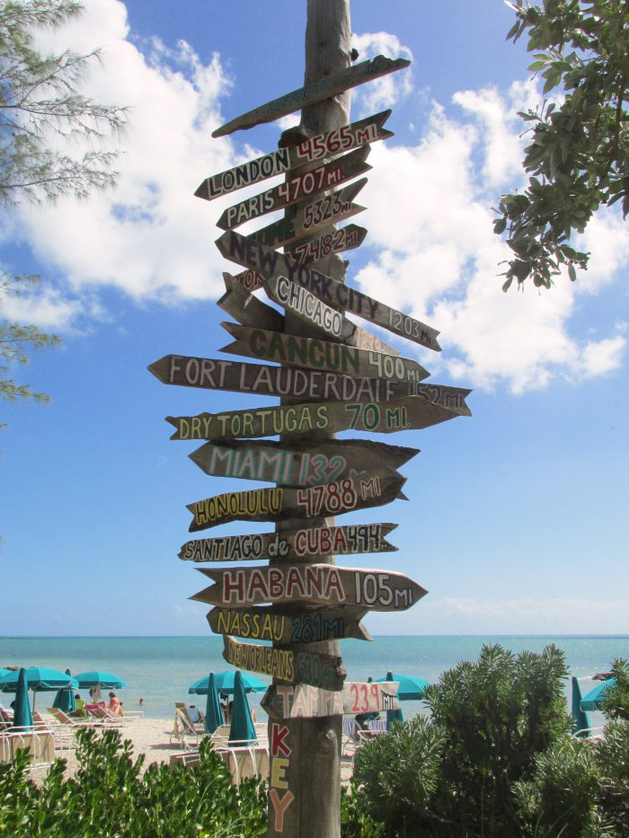 Fort Zachary Taylor Historic State Park wooden directional sign Key West