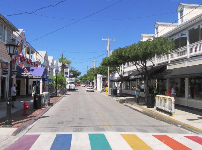Key West street colors Florida
