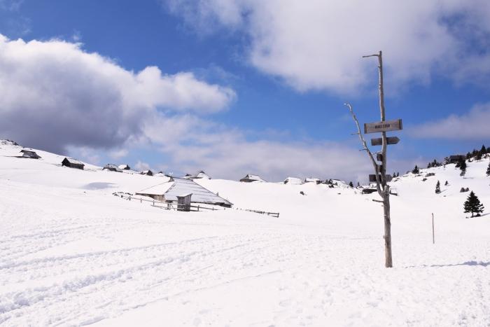 Mala Planina Slovenia signpost