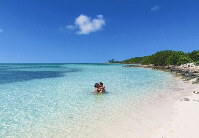 Perfect beach resort honeymoon