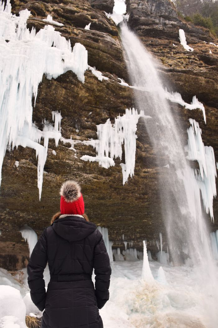 Pericnik waterfall Slovenia