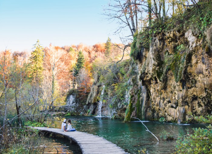 Plitvice lakes Croatia honeymoon