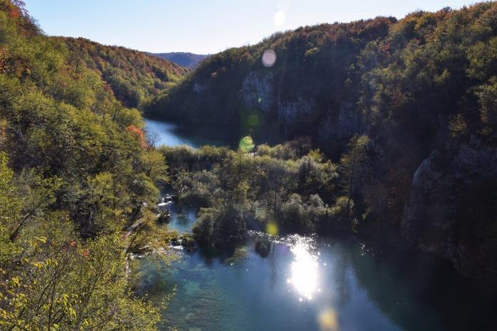 Plitvice lakes national park autumn view