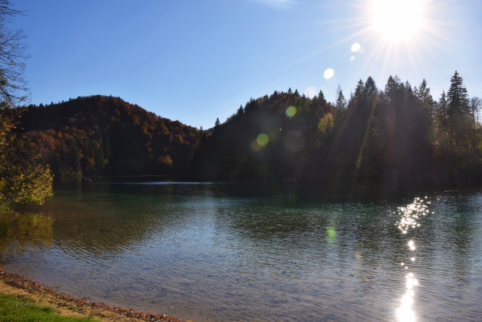 Plitvice lakes national park sunshine