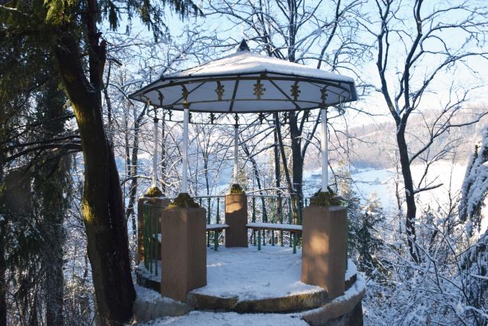 Slovenia Rimske terme in winter