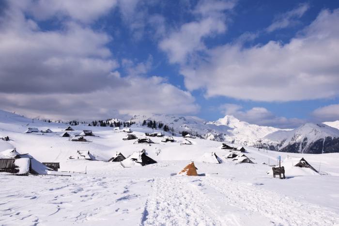 Velika Planina Slovenia winter view