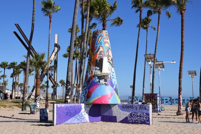 Venice beach LA graffiti