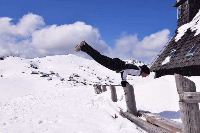 Winter parkour Slovenia