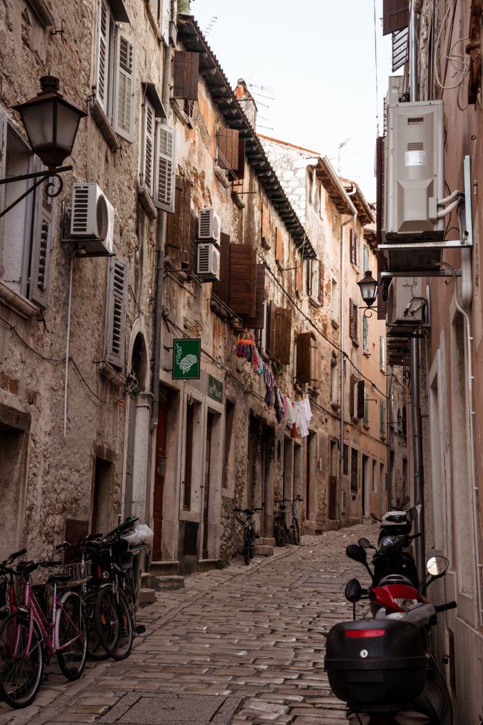 Rovinj romantic stroll medieval town