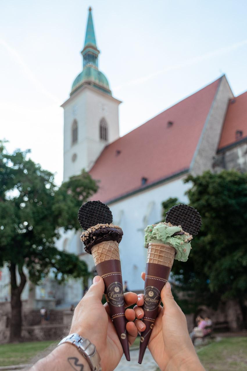 Luculus ice cream Bratislava