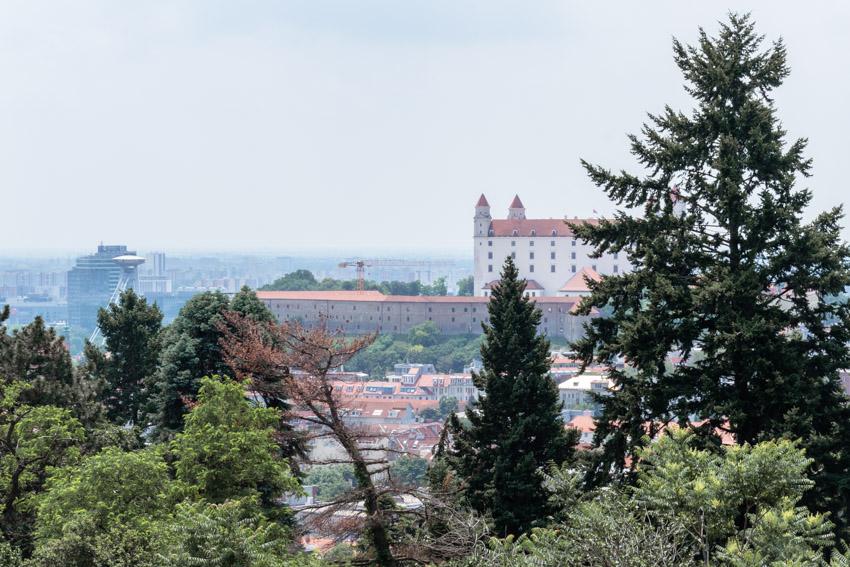Bratislava castle from Slavin hill