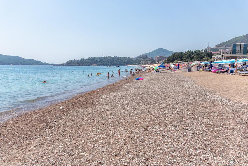 Budva, Becici beach